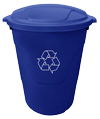Recycling Trash can for waste disposal at Fairfeild Electric in Victoria BC