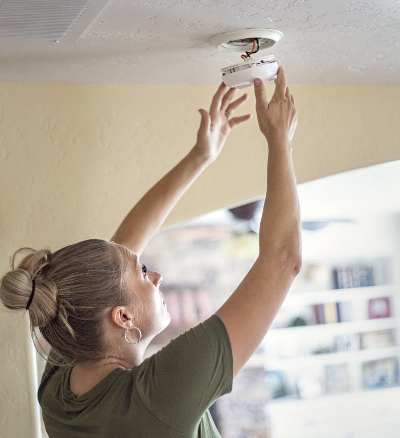 Fairfield Electric Victoria BC removing a smoke alarm